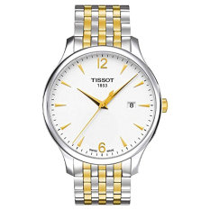 Tissot T-Classic Tradition White Dial Two Tone Men's Watch T0636102203700 - Intl