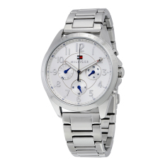 Tommy Hilfiger Watch Silver Stainless-Steel Case Stainless-Steel Bracelet Ladies NWT + Warranty 1781605
