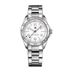 Tommy Hilfiger Watch Silver Stainless-Steel Case Stainless-Steel Bracelet Ladies NWT + Warranty 1781639