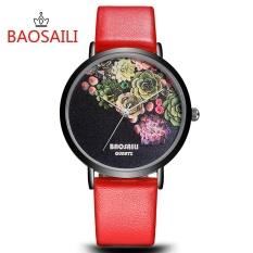 Top Brand Flower Face Design Gold Plating Case Series Watch Simple Cartoon WatchesFashion Women Quartz Watch - intl