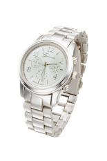 Toprank Watch Women Luxury Hot Geneva Ladies Wristwatches Gifts Full Stainless Steel Rhinestone Quartz Watch (Silver) - Intl