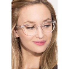 Transparent Clear Frame Cat Eye Clear Lens Glasses Retro Vintage Style Sexy Cute CAT 2487 - Kacamata Wanita