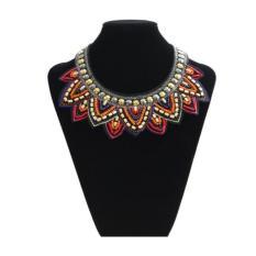 Tribal Jewelry Handmade Spiky Geometric Triangle Charm Bib Choker Necklace New Multicolor