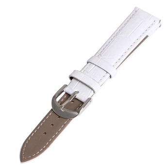 Twinklenorth 12mm White Genuine Leather Watch Strap Band