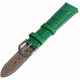 Twinklenorth 14mm Green Genuine Leather Watch Strap Band - intl