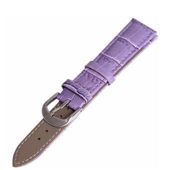 Twinklenorth 14mm Purple Genuine Leather Watch Strap Band - intl