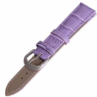 Twinklenorth 16mm Purple Genuine Leather Watch Strap Band - intl