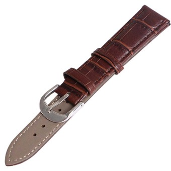 Twinklenorth 18mm Brown Genuine Leather Watch Strap Band