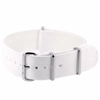 Twinklenorth 20mm White Nato Strap Nylon Military Watch Band Strap Watchband NATO-032 - intl