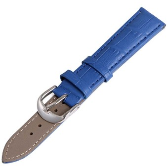 Twinklenorth 22mm Blue Genuine Leather Watch Strap Band