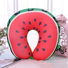 U-bantal berbentuk buah partikel nano sandaran kepala keperawatan perjalanan bantal leher bantal semangka - International