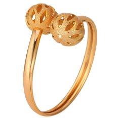 U7 Cute Hollow Ball Bangle Bracelet 18K Real Gold Plated Fashion Women Jewelry (Gold)