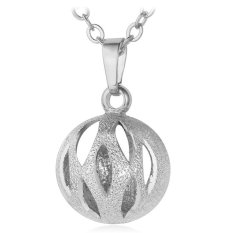 U7 Cute Hollow Ball Pendant Necklace Platinum Plated Fashion Women Jewelry (Platinum)