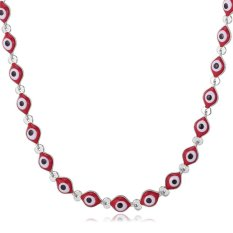 U7 Evil Eyes Lucky Chain Necklace Platinum Plated Accessories (Intl)