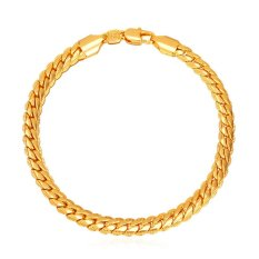 U7 Hot Classic 18K Real Gold Plated Chain Bracelet (Gold) (Intl)