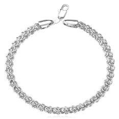 U7 Men Chain Bracelet Platinum Plated New Design Fashion Jewelry (Platinum) (Intl)