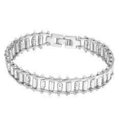 U7 Punk Bike Chain Bracelet Platinum Plated Fashion Men Jewelry (Platinum) (Intl)