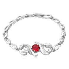 U7 Zircon Bracelet Platinum Plated Women Luxury Cubic Zirconia Jewelry Wholesale Chain Bracelet (Platinum)