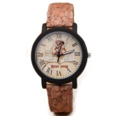 UJS Fashion Simple Mens And Womens Leisure Woodiness Grain Watch Dial Quartz Wrist Table Fashion And Personality