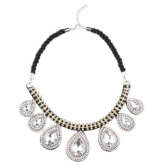 UJS Fashion Size Droplets Crystal Clavicle Necklace Female Shiny Fake Collar Accessories