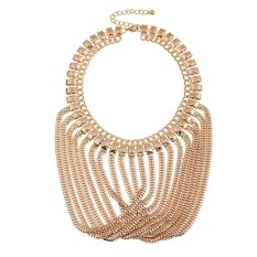 UJS Gold Tassel Necklace Female Fashion Accessories (Intl)