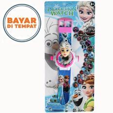 Uniq Jam Tangan Anak Proyektor Model Karakter 3D Frozen - Putih