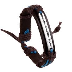 Unisex Retro Vintage PU Leather Adjustable Braided Strap Waist Bracelet For Men Women - Intl
