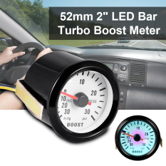 "Universal 52mm 2"" Blue LED Light Auto Turbo Boost Gauge Vacuum Press Meter BI268"