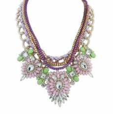 Universal - Kalung Import Queen Statement Necklace - Gold Purple
