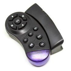 Universal Steering Wheel Universal IR Remote Control For Car CD / DVD / TV / MP3 - MXK168 - Hitam
