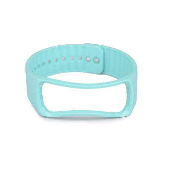 Untuk pengganti Samsung Galaxy Gear Fit cerdas perhiasan gelang tali pengikat pergelangan tangan Band Biru Muda