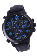 V6 1466 Men Silicone Strap Casual Quartz Watch (Blue) (Intl)