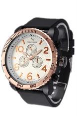 V6 2424 Men Silicone Strap Casual Quartz Watch (White) (Intl)