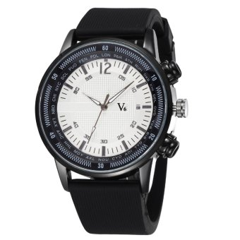 V6 Men's Sport Casual Silicone Strap Watches White 240902 - Intl - intl