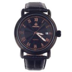Vanki ORKINA P0034 Fashionable Men's Quartz Wrist Watch W / Simple Calendar - Black + Golden 1 x LR626 (Intl)