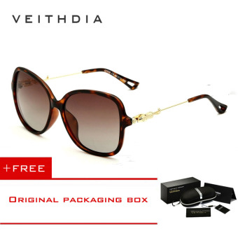 VEITHDIA Brand Retro TR90 Women's Sun glasses Polarized Ladies Designer Sunglasses Eyewear Accessori.