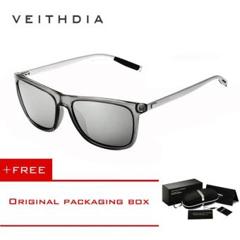 VEITHDIA Brand Unisex Retro Aluminum+TR90 Sunglasses Polarized Lens Vintage Eyewear Accessories Sun Glasses For