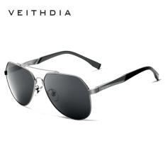 VEITHDIA Pria Magnesium Aluminium Merek Kacamata Terpolarisasi Biru Lensa Mengemudi Memancing Kacamata Hitam .