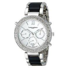 Vernier Paris Women's VNRP11171SS Crystal-Accented Silver-Tone Watch - Intl