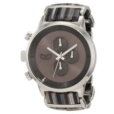 Vestal Unisex METCA05 Metronome Silver With Grey Acetate Chronograph Watch - Intl