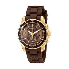 Victorinox Men's 241692 Maverick Chrono Analog Display Swiss Quartz Brown Watch - Intl