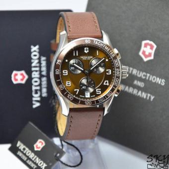 Victorinox Swiss Army Chrono Classic 241498 (Silver + Coklat)