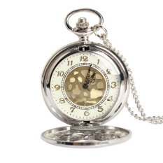 Vintage Large Gold Face Pocket Watch Necklace Women Men Quartz Pocket Watch