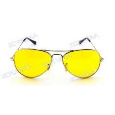 Vision X Aviator Design Kacamata Penerang Malam Hari Glasses - Silver