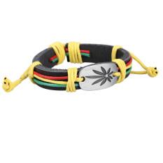 Vivid Maple Pendant Unisex Braid Bracelet Girl Boy String Band Bangle