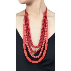 VONA Beads Kalani (Merah) - Kalung Wanita Manik-manik / Jewellery Necklace For Women