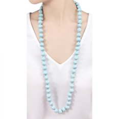 VONA Beads Poppy (Biru) - Kalung Wanita Manik-manik / Jewellery Necklace For Women