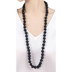 VONA Beads Poppy (Hitam) - Kalung Wanita Manik-manik / Jewellery Necklace For Women