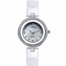 wangyi IBSO The Small Dial Ceramic Watches Diamond Watch FashionJoker Ladies For Lady Lover Watches High-Grade Watch (White) - intl