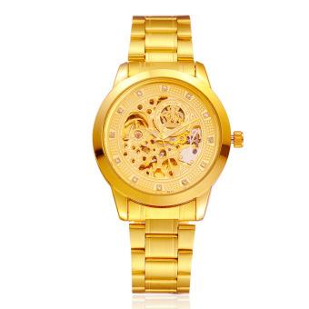 Waterproof Mechanical Automatic Gold Watch (Intl)